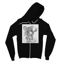 Load image into Gallery viewer, Pickles (The Fairy-Gorilla) Fine Jersey Zip Hoodie