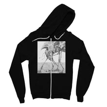 Load image into Gallery viewer, Giant Alien Bug Fine Jersey Zip Hoodie