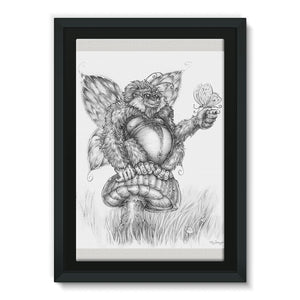 Pickles (The Fairy-Gorilla) Framed Canvas