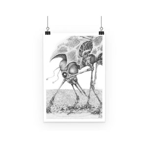 Giant Alien Bug Poster