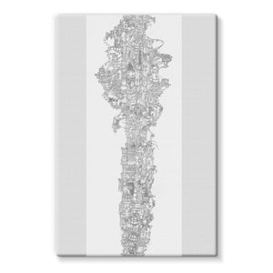 Space Elevator Stretched Eco-Canvas