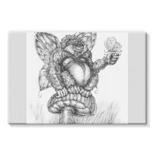 Load image into Gallery viewer, Pickles (The Fairy-Gorilla) Stretched Canvas
