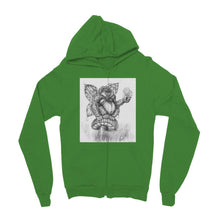 Load image into Gallery viewer, Pickles (The Fairy-Gorilla) Kids' Zip Hoodie