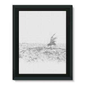 Pastoral Landscape Framed Canvas
