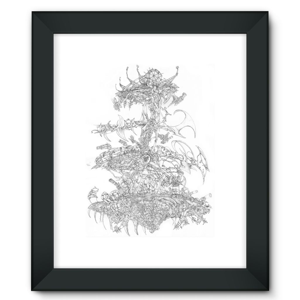 Flying Laser Framed Fine Art Print