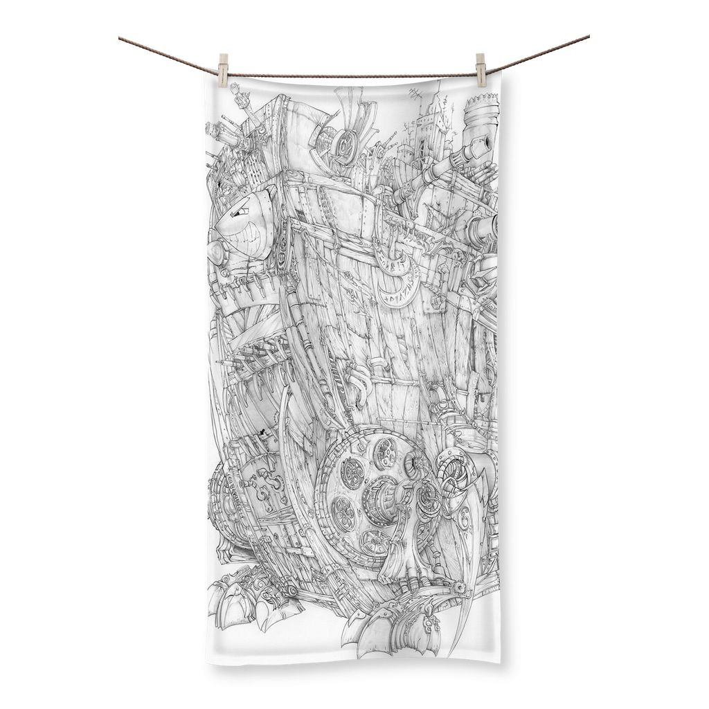 Rumble-Tank Beach Towel