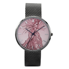"Load image into Gallery viewer, ""Pink Sussurus"" Art Watch - 30 Meters Waterproof Quartz Fashion Watch With Casual Stainless Steel Band"