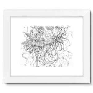 Jellyfish-O-War Framed Fine Art Print