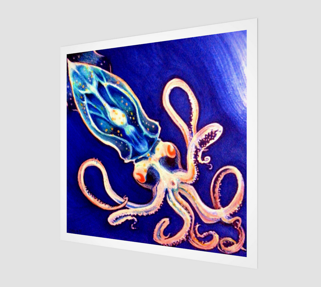 Translucent Squid Art - Canvas Print