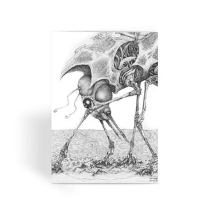 Giant Alien Bug Greeting Card