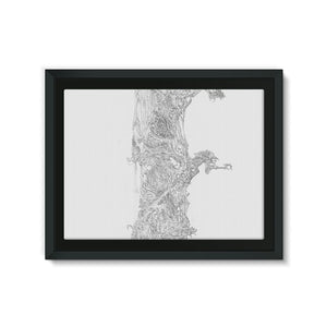 Sky Tree Framed Canvas