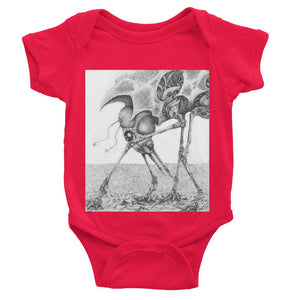 Giant Alien Bug Baby Bodysuit