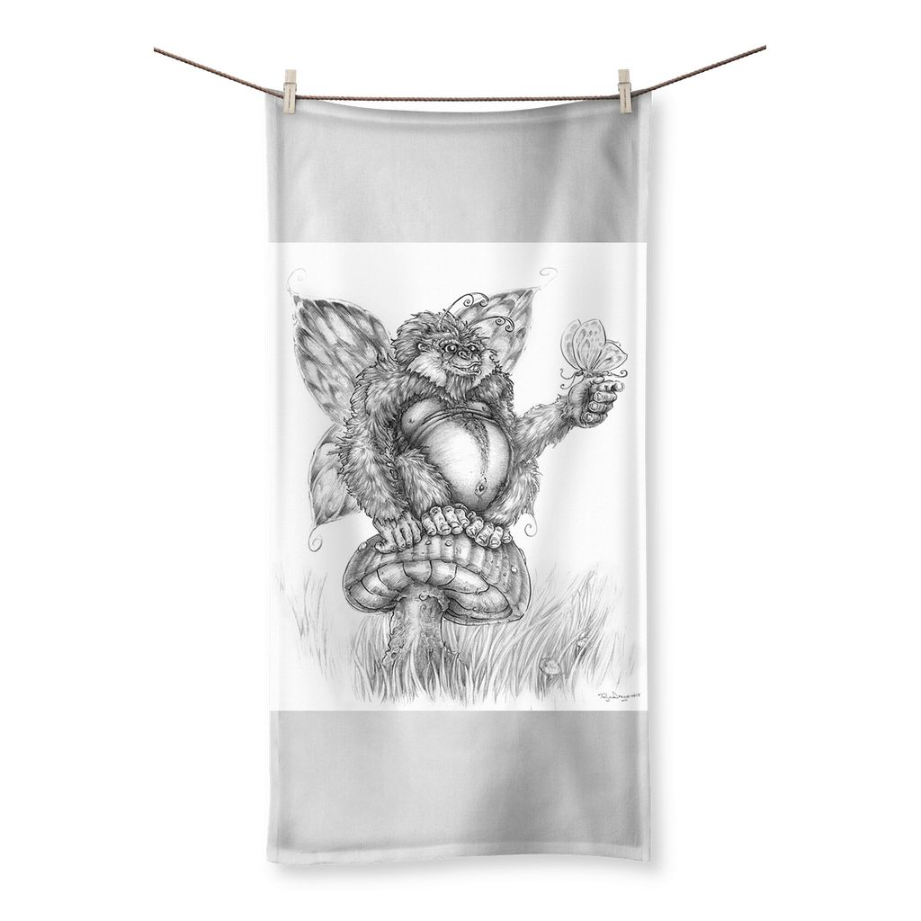 Pickles (The Fairy-Gorilla) Beach Towel