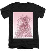 Load image into Gallery viewer, Pink Brambles - Men's V-Neck T-Shirt