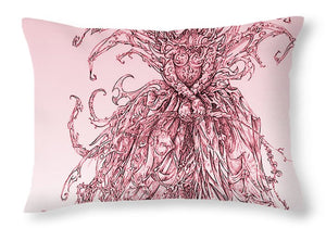 Pink Brambles - Throw Pillow