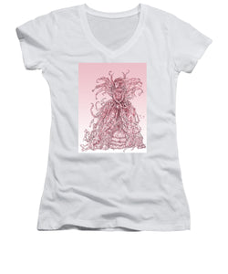 Pink Brambles - Women's V-Neck (Athletic Fit)
