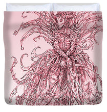 Load image into Gallery viewer, Pink Brambles - Duvet Cover