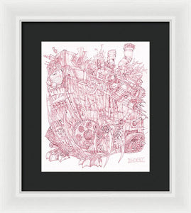 Pink Rumble Tank - Framed Print