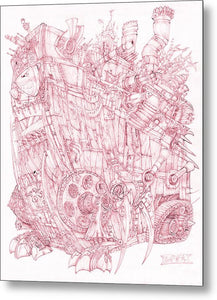 Pink Rumble Tank - Metal Print