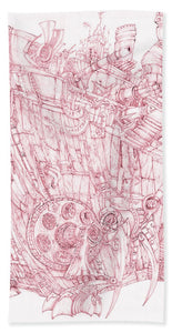 Pink Rumble Tank - Bath Towel