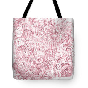 Pink Rumble Tank - Tote Bag