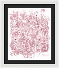 Load image into Gallery viewer, Pink Rumble Tank - Framed Print