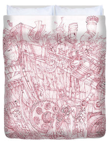 Pink Rumble Tank - Duvet Cover