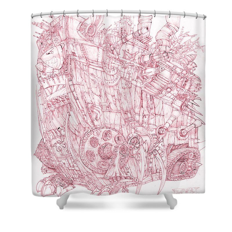 Pink Rumble Tank - Shower Curtain