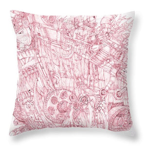 Pink Rumble Tank - Throw Pillow
