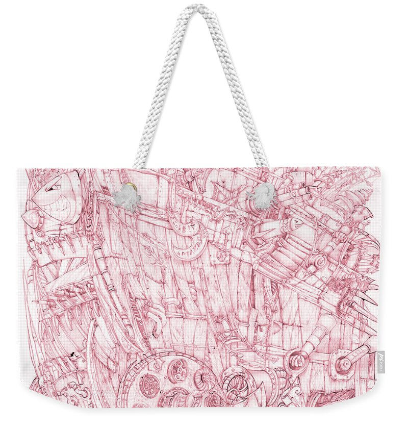 Pink Rumble Tank - Weekender Tote Bag