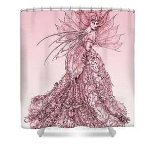 Pink Sussurus - Shower Curtain