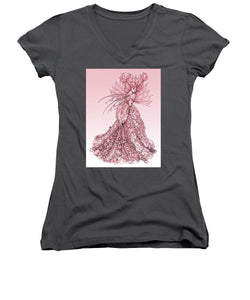 Pink Sussurus - Women's V-Neck (Athletic Fit)