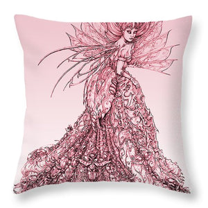 Pink Sussurus - Throw Pillow