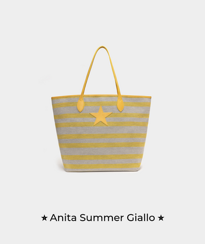 Anita Summer Giallo - Marks & Angels - Borsa Made in Italy by Alessia Marcuzzi