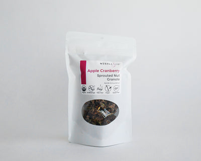 Raw sprouted nut seed apple cranberry granola by Nussli118.