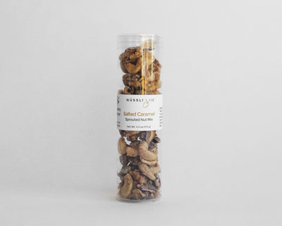 Raw vegan salted caramel sprouted nut mix by Nussli118.