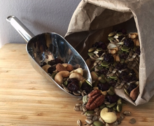 Load image into Gallery viewer, Organic Sprouted Nut Mix Cashews Walnuts Almonds Pumpkin Seeds Sunflower Raisins Cranberries
