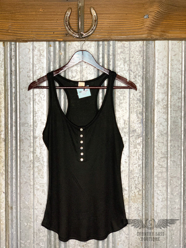 Black Heather Tank