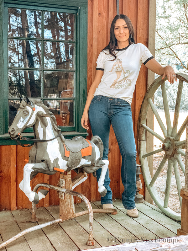 C Is For Cowgirl Tee