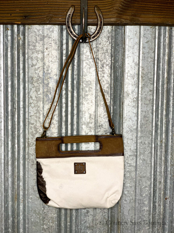 Cowhide Flat Rock Purse