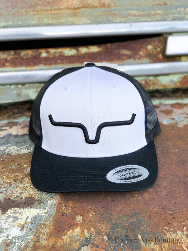 Kimes Reverse Black and White Weekly Trucker