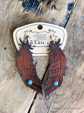 Fighting Chance Feather Earrings
