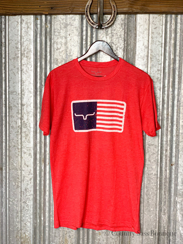 Kimes Red American Trucker Tee