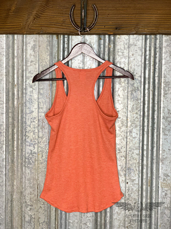 Rust Heather Tank