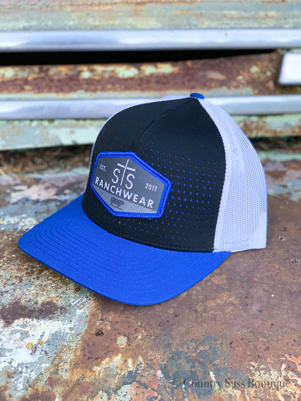 Black & Royal Patch Hat