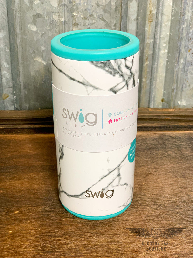 Swig Marble Slab Skinny Can Cooler