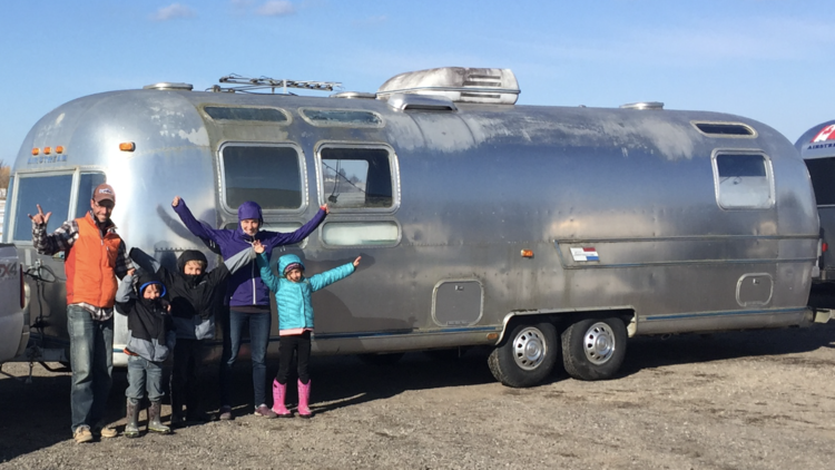 Exterior of Airstream trailer by Mini Maison Signée Sitka tiny house builder