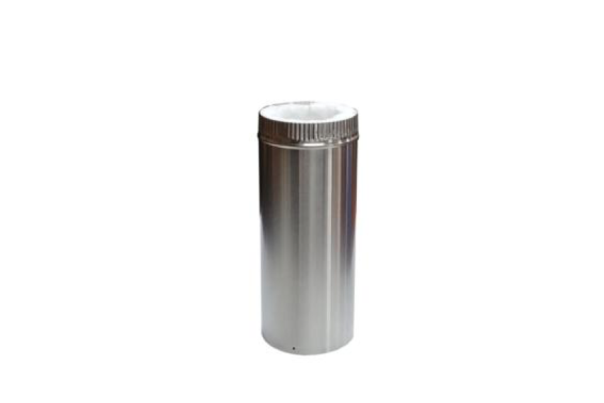 "Cubic 12"" Insulated Stainless Steel Flue Pipe"