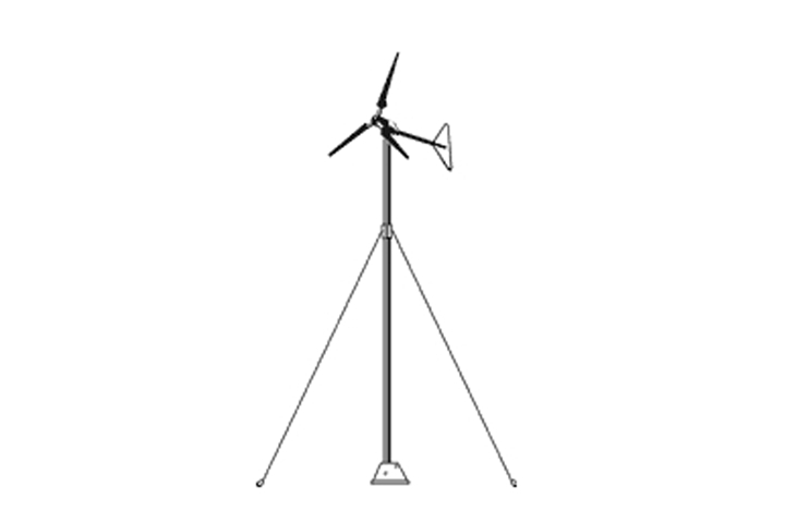 Aleko P20 Wind Turbine Pole (20 Feet)