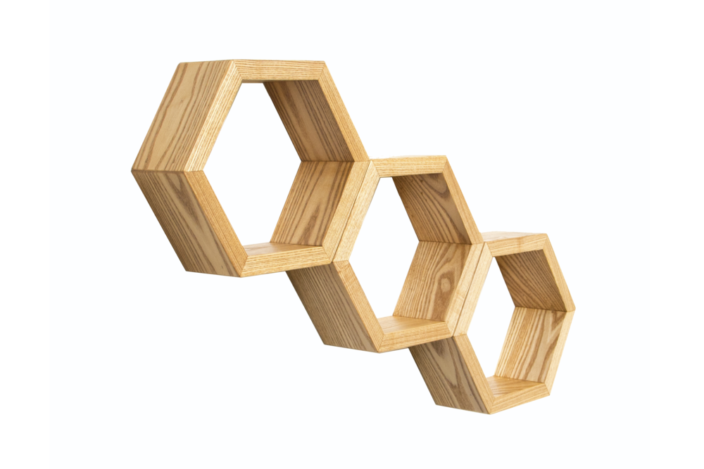Haase Handcraft Ash Honeycomb Shelves